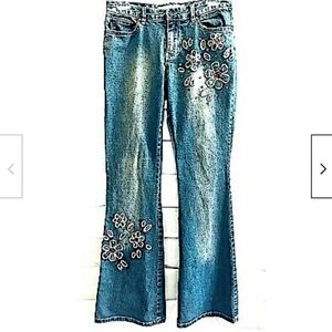 Joe Boxer Jeans Junior Floral Distressed Summer 5